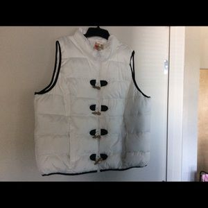 Ruff Hewn white with black trimmed vest.